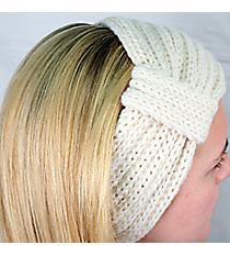 White Knit Headwrap #HB1976-WHITE