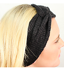 Knotted Black Knit Headwrap #HB2014-BLACK