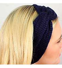 Knotted Navy Knit Headwrap #HB2014-NAVY