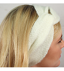 Knotted White Knit Headwrap #HB2014-WHITE