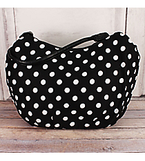 SALE! Black with White Polka Dots Shoulder Tote #HBG92128B