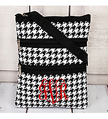 Houndstooth Hipster with Black Trim #HE231-BLACK