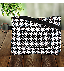 Houndstooth with Black Trim Petite Organizer Hipster #HE492-BLACK