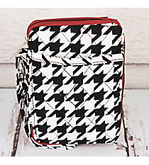 Houndstooth Quilted Wristlet #HE495-BUR
