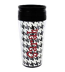 Houndstooth 14 oz. Travel Tumbler with Black Lid #WLCM338PP-CL-U