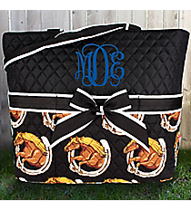Wild and Free Quilted Diaper Bag #HRQ2121-BLACK