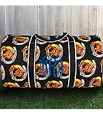 """21"""" Wild and Free Quilted Duffle Bag #HRQ2626-BLACK"""