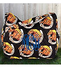 Wild and Free Quilted Shoulder Bag #HRQ595-BLACK