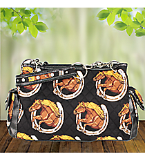 Wild and Free Quilted Satchel #HRQ977-BLACK