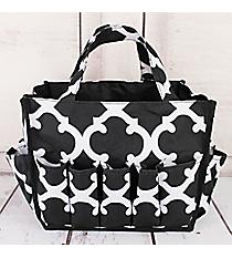 Black and White Moroccan Organizer Bag #HY009-11-BW