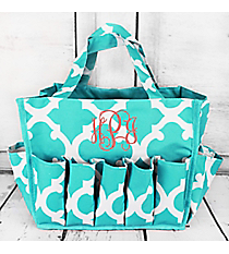 Turquoise and White Moroccan Organizer Bag #HY009-11-TO