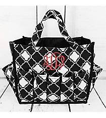 Black and White Quatrefoil Organizer Bag #HY009-15-BW