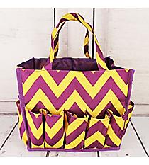 Purple and Yellow Chevron Organizer Bag #HY009-601-PY