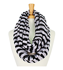 Black and White Striped Infinity Scarf #IF0001-WJ