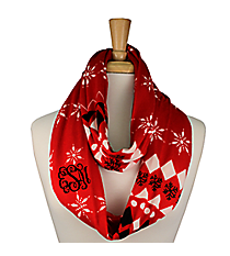 Red Aztec Snowflake Infinity Scarf #IF0055-R