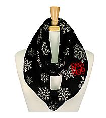Black Snowflake Infinity Scarf #IF0056-J