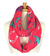 Fuchsia Western Print Infinity Scarf #IF0057-F