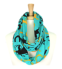 Turquoise Western Print Infinity Scarf #IF0057-TQ