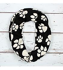 Black and White Paw Print Infinity Scarf #IF0079-JW
