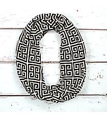 Black Greek Key Infinity Scarf #IF0082-J