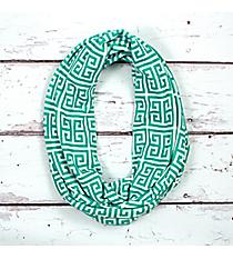 Turquoise Greek Key Infinity Scarf #IF0082-TQ