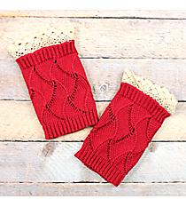 One Pair of Junior Cut Fuchsia Crochet Boot Cuffs #IW0001-F