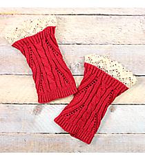 One Pair of Junior Cut Fuchsia Crochet Boot Cuffs #IW0003-F