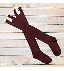 One Pair of Brown Over-The-Knee Boot Socks #IW0031-B