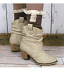 One Pair of Brown Ankle Boot Socks #IW0033-B