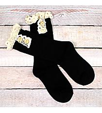 One Pair of Black Ankle Boot Socks #IW0033-J