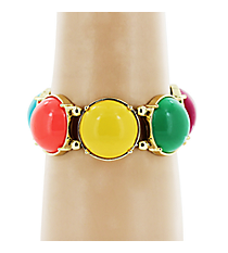 Multicolor Bubble Bead Stretch Bracelet #JB3762GMT