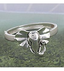 Silvertone Elephant Hinge Bracelet #JB4207-AS
