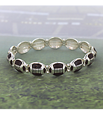 Football Stretch Bracelet #JB4250-AS