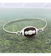 Silvertone Football Bracelet #JB4356-SBR