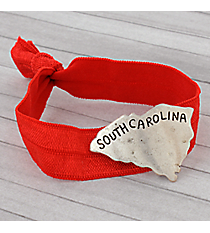 South Carolina Red Ribbon Stretch Bracelet/Hair Tie #JB4934-SBRD