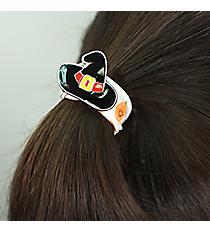 Witch Hat and Pumpkin Ribbon Stretch Bracelet/Hair Tie #JB5072-SOR