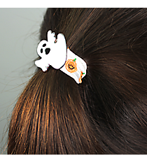 Ghost and Pumpkin Ribbon Stretch Bracelet/Hair Tie #JB5073-SOR