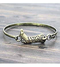 Cowboy Boot Goldtone Hook Bracelet #JB5102-BB