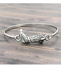 Cowboy Boot Silvertone Hook Bracelet #JB5102-SB