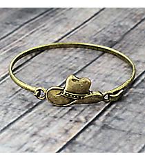 Cowboy Hat Goldtone Hook Bracelet #JB5104-BB