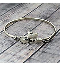 Cowboy Hat Silvertone Hook Bracelet #JB5104-SB