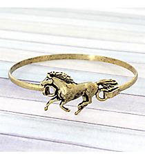 Horse Goldtone Hook Bracelet #JB5105-BB