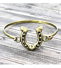 Horseshoe Goldtone Hook Bracelet #JB5106-BB