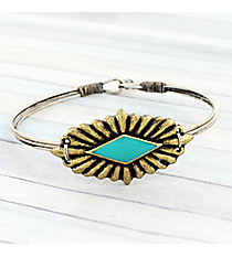 Goldtone Western Concho Hook Bracelet #JB5335-BBTQ