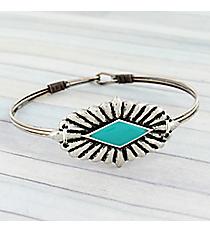 Silvertone Western Concho Hook Bracelet #JB5335-SBTQ