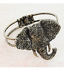 Burnished Goldtone Paisley Elephant Bracelet #JB5566-GB