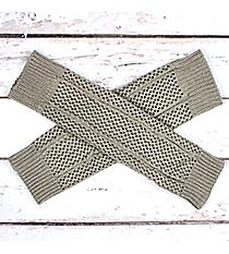 One Pair of Gray Open Weave Knit Leg Warmers #JBS0020-GY