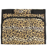 Leopard with Black Trim Small Roll Up Jewelry Bag #CB50-2008