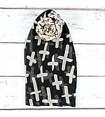 Black Multi-Cross Scarf #JF0031-BK