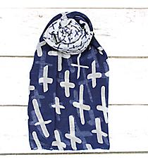 Blue Multi-Cross Scarf #JF0031-BL